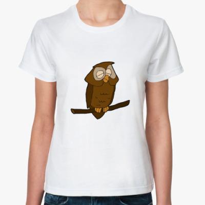 Классическая футболка  Сова