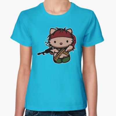 Женская футболка Китти Рэмбо