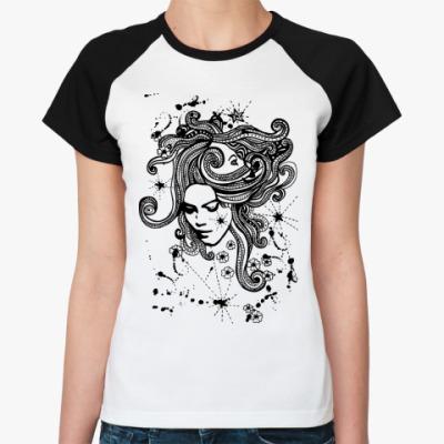 Женская футболка реглан Горгона