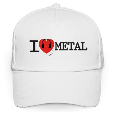 Кепка бейсболка Кепка I Love Metal (Метал)