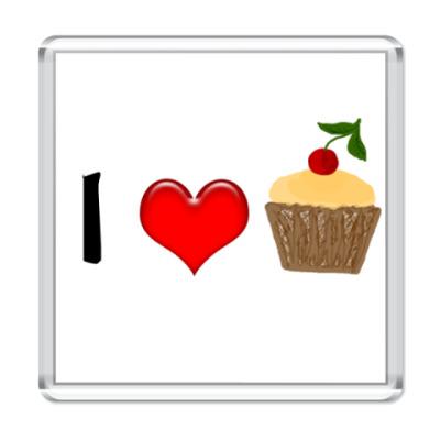 Магнит Люблю кексы