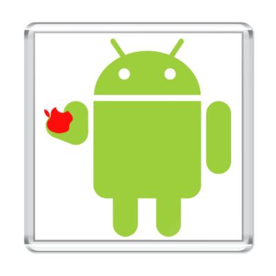 Магнит Андроид с яблоком