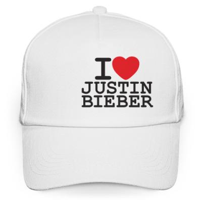 Кепка бейсболка I love Justin Bieber