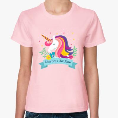 Женская футболка Unicorn are real