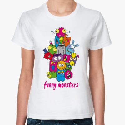 Классическая футболка FUNNY MONSTERS