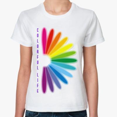 Классическая футболка Красочная жизнь