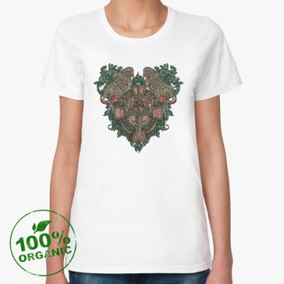 Женская футболка из органик-хлопка Вороны