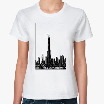 Классическая футболка Небоскреб