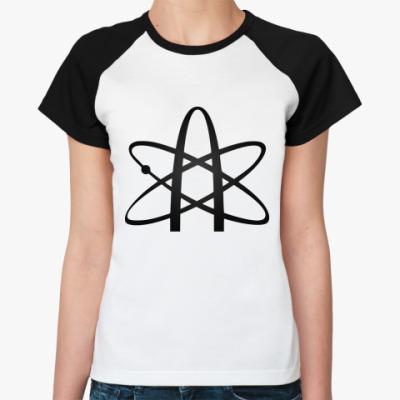 Женская футболка реглан   'Атеизм'