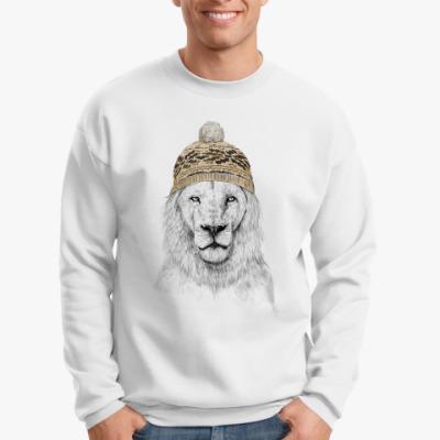 Свитшот Лев в шапке