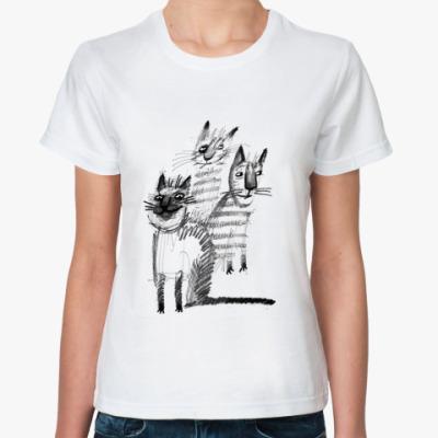 Классическая футболка банда котов