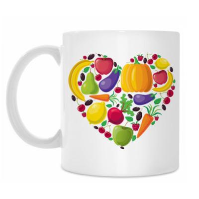 Кружка Я люблю овощи и фрукты