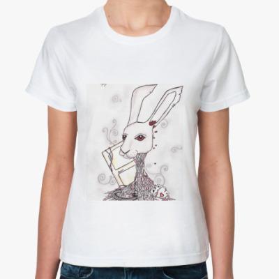 Классическая футболка Кролик из Алисы