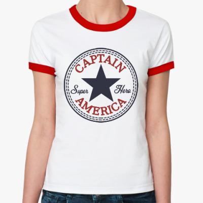 Женская футболка Ringer-T Супер герой