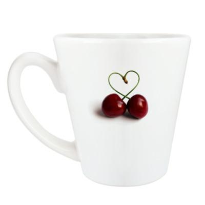 Чашка Латте вишня