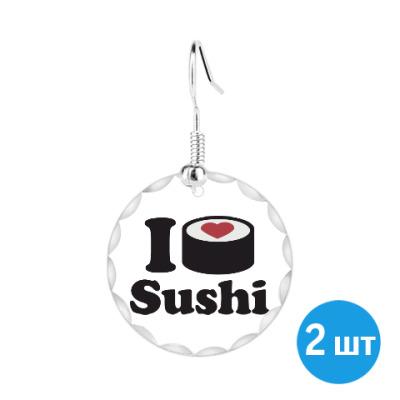 Серьги Love Sushi