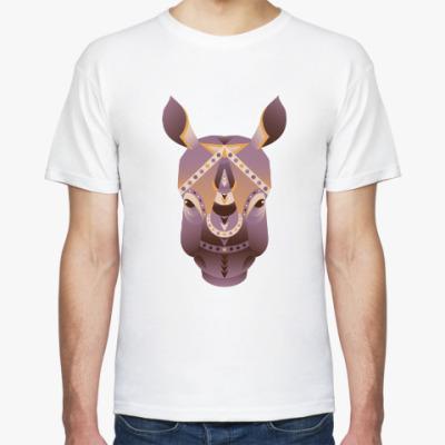 Футболка Геометрический носорог