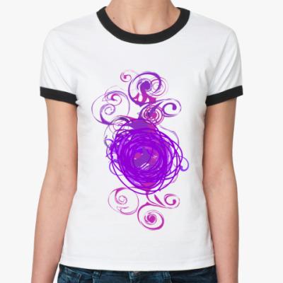 Женская футболка Ringer-T 'Фиолет'