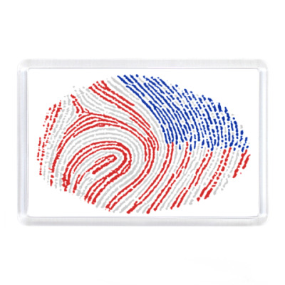 Магнит USA отпечаток