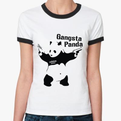 Женская футболка Ringer-T Gangsta Panda