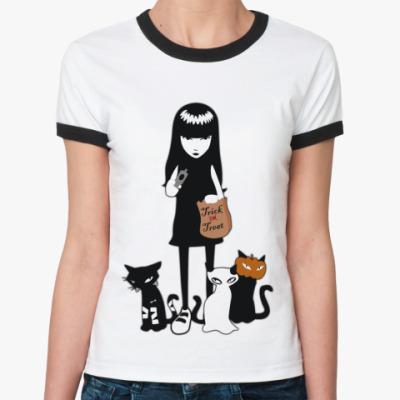 Женская футболка Ringer-T Trick  Ж()