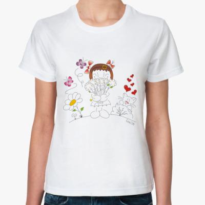 Классическая футболка 'Валентинка'
