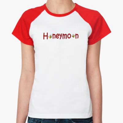 Женская футболка реглан Honeymoon