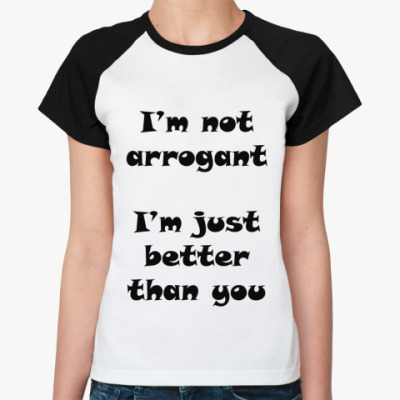 Женская футболка реглан Сумерки