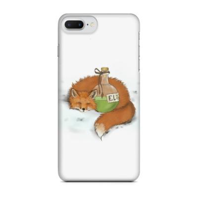 Чехол для iPhone 7 Plus Лиса в обнимку с эликсиром