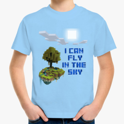 Детская футболка Flying Island in Minecraft
