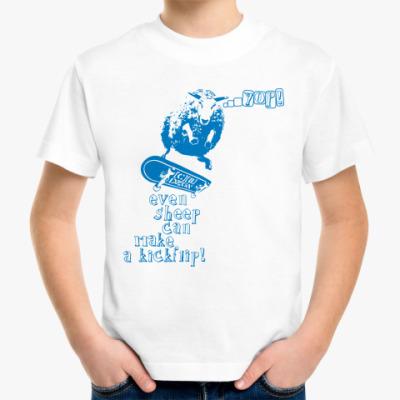 Детская футболка even sheep...
