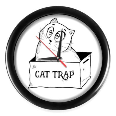 Настенные часы Ловушка для кота