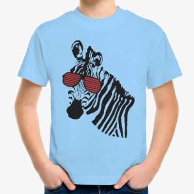 Детская футболка Зебра в очках