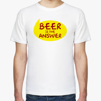 Футболка Beer is the answer