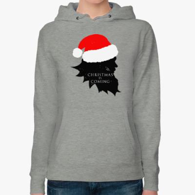 Женская толстовка худи Christmas is coming
