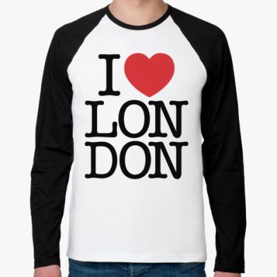 Футболка реглан с длинным рукавом I Love London