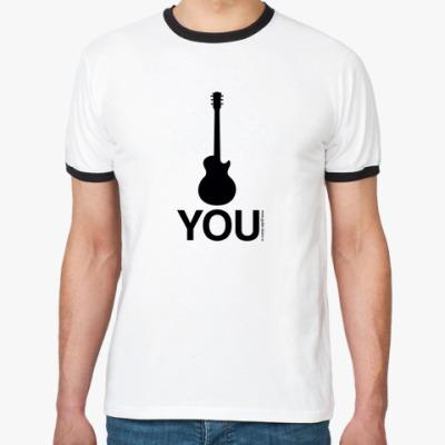 Футболка Ringer-T 'Fuck you' by LP custom