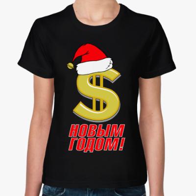 Женская футболка С Новым Годом! Доллар