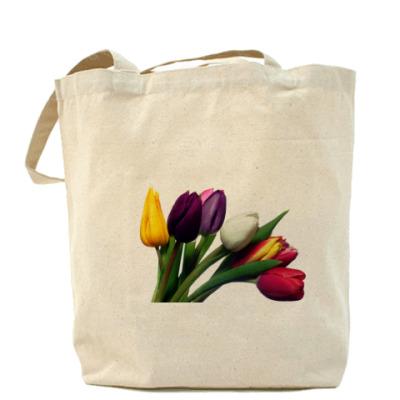 Сумка тюльпаны