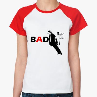 Женская футболка реглан BAD  Ж ()