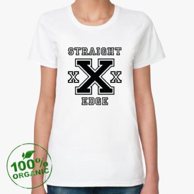 Женская футболка из органик-хлопка Straight Edge