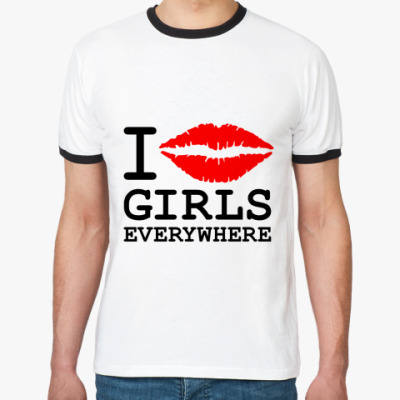 Футболка Ringer-T GIRLS EVERYWHERE