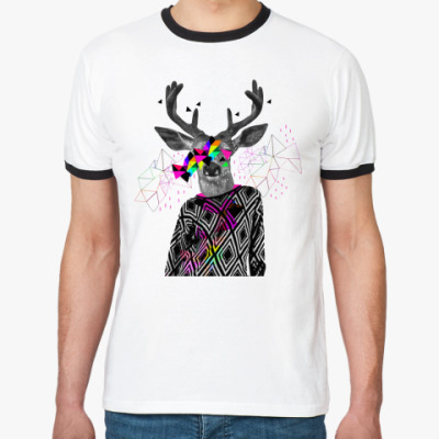 Футболка Ringer-T Triangle Deer