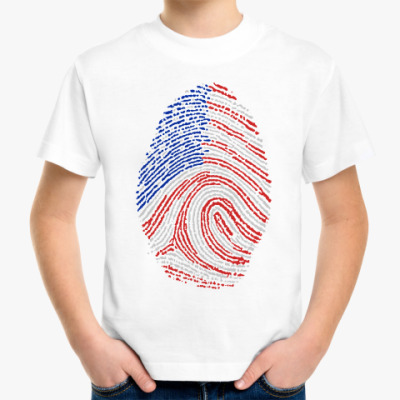 Детская футболка USA отпечаток