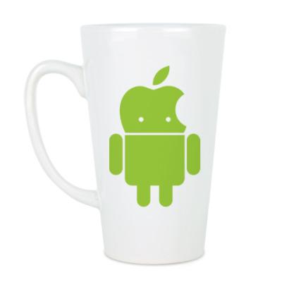 Чашка Латте Андроид голова-яблоко