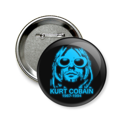 Значок 58мм  Kurt Cobain