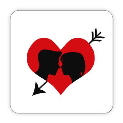 Костер (подставка под кружку) Сердце хочет любви
