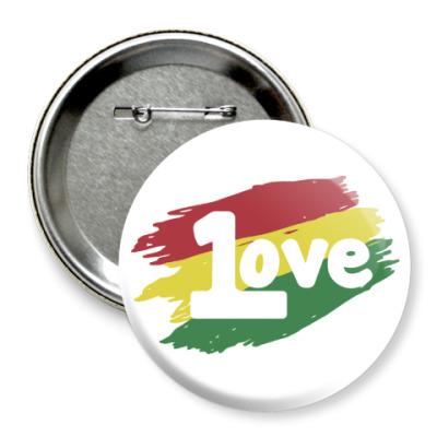 Значок 75мм 1 Love