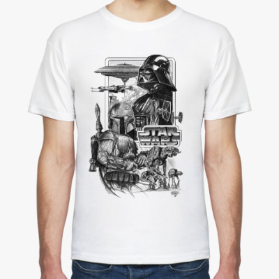 Футболка Star Wars - Darth Vader and Boba Fett