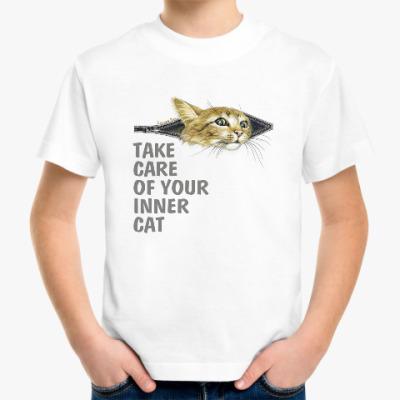 Детская футболка Береги своего  Кота